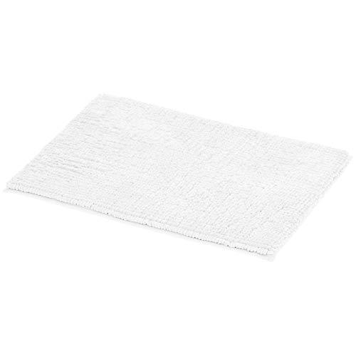 Amazon Basics Chenille Loop Memory Foam Bath Mat - White, Small