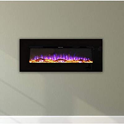 Ezee Glow Zara Black Wall Mounted Electric Fire