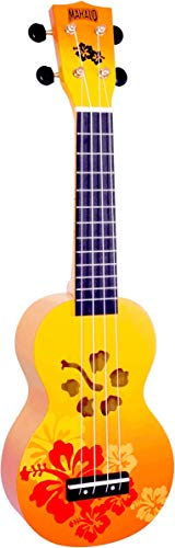 Mahalo Ukuleles Mahalo Designer Series Ukulele, Right Handed, Orange Burst, Soprano (MD1HB orb)