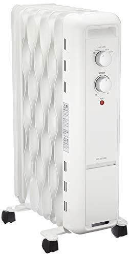 アイリスオーヤマ ウェーブ型オイルヒーター メカ式 ホワイト IWH2-1208D-W