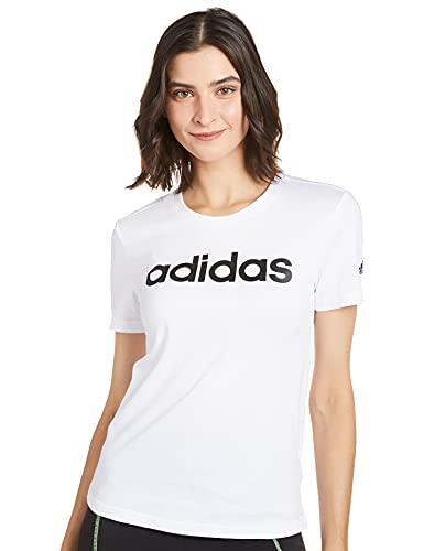 adidas Camiseta W Lin T GL0768 Blanco