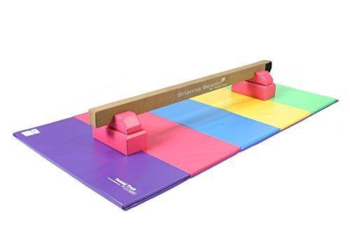 Tumbl Trak Rosa Brianna Equilibrio Trave con Gamba Basi & Brillante Pastello Burattatura Tappetino