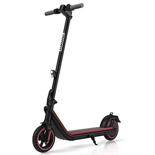 Scooter Elettrico Pieghevole KUKUDEL, Scooter Elettrico per Adulti con Batteria da 7,5 Ah e Motore per Scooter da 380 W, Display LCD Multifunzione, Velocità Massima 25 km/h Portata e 30 km (Nero)