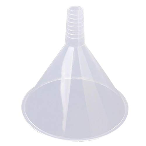 Feewerain Embudo de plástico Transparente Grande de 150 mm Triángulo colador Reutilizable Hopper