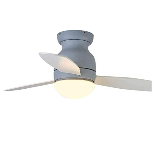 MAMINGBO Ventilador de techo para el hogar con ventilador ligero Ventilador de techo Light Fan LecheLier (Color : Diameter90cm)