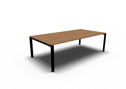 Bralco Besprechungstisch Glider für 8 Personen, Konferenztisch, Meetingtisch in verschiedenen Dekoren, Konferenzmöbel