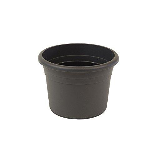 greemotion Pflanzkübel Fiona, UV-Beständiger Blumentopf aus Kunststoff, Pflanzgefäß mit Bodenlöchern, Volumen ca. 8 l, ca. Ø 30 x H 21,5 cm
