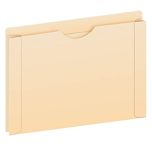 """Pendaflex File Jackets, Letter Size, Manila, 2"""" Expansion, Reinforced Straight-Cut Tabs with Thumb Cut, 50 per Box (22200EE)"""