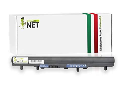 newnet Batteria AL12A32 4ICR17/65 AK.004BT.097 per Acer Aspire V5-471P V5531 V5-531 V5 Serie V5-531G V5-531 [14.4-14.8 V 2600 mAh]