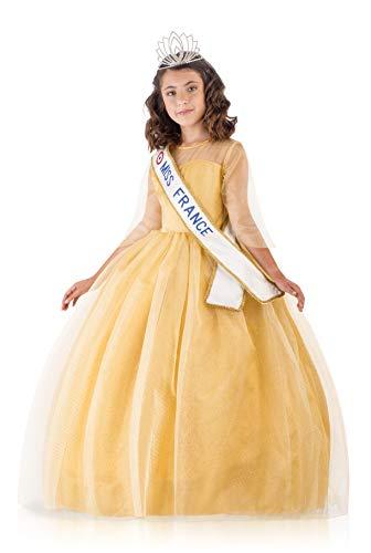 Miss France Prestige Or 11-12 Ans-3 Tailles Disponibles (5-7, 8-10ans ou 11-12ans), 430450, 10-12