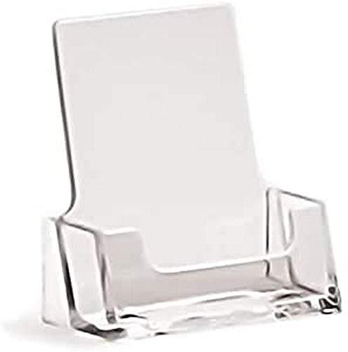 taymar - Soporte para tarjetas de visita vertical, transparente