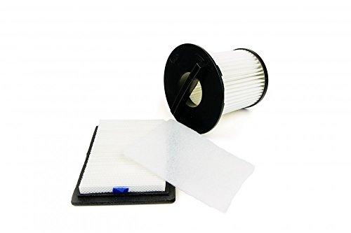 Dirt Devil 2725001 ORIGINAL Filterset Filter Zentralfilter + Motorschutzfilter + Abluftfilter Staubsauger für M2012 M2725 Centrino X3.1 Popster