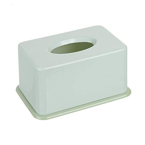 Caja de toallas de papel de plástico Baby Wipe Caja de almacenamiento de papel Dispensador de toallas de papel Home Servilleta Organizador-Verde