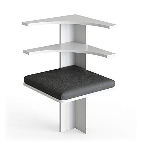 Vicco Details Eckbankgruppe Roman Esszimmergruppe Sitzgruppe Küchensitzgruppe Bank Tisch Hocker (Weiß, Sitzecke)