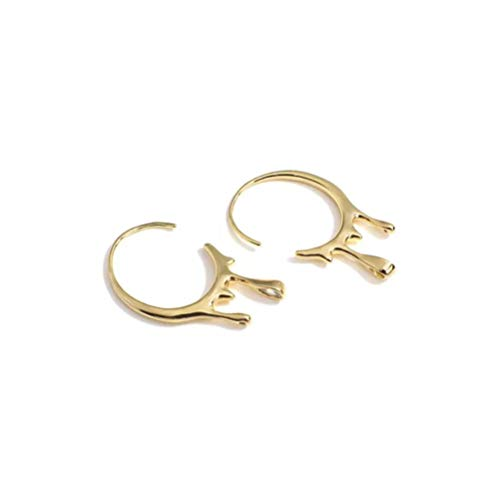 Fashion Open Circle Shape Hoop Earrings for Women Gold Color Irregular Copper Hoop Earring Minimalist Female