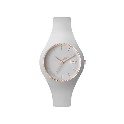 ICE-WATCH Ice Glam Pastel Wind - Reloj Gris para Mujer con Correa de Silicona, 001066 (Small)