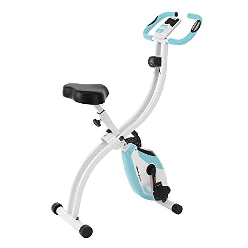 Ultrasport F-Bike 150 estática Mano, Bicicleta Fitness con Consola y sensores de Pulso en Manillar, Plegable, F-Bike 150 sin Respaldo, Unisex, Rosa