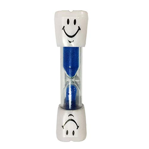MILISTEN Sanduhr Sanduhr Uhr Lächeln Muster Zahnbürste Timer 3 Minuten für Spiele Klassenzimmer Home Office Küche Dekoration (Blau)