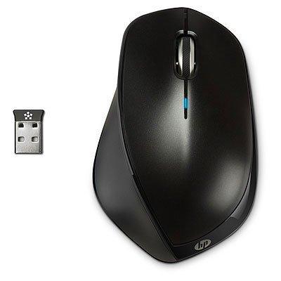 HP X4500 - Ratón (RF inalámbrico, Laser, Portátil, Negro, Ambidextro, USB) Monótono