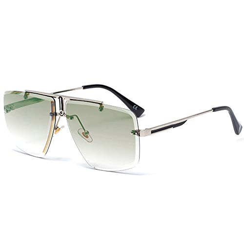SHEEN KELLY Retro quadratische Sonnenbrille für Männer Frauen randlose Metall Sonnenbrille Mode Sonnenbrille Vintage