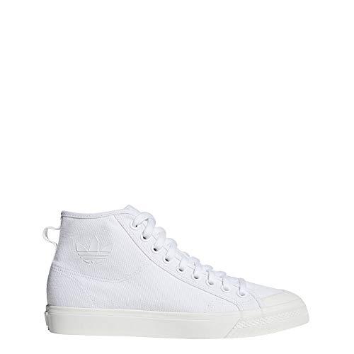 adidas Originals Men's Nizza Hi Sneaker, White/White/Off White, 11.5