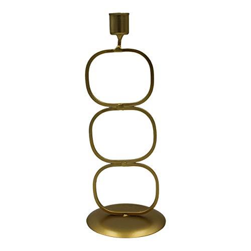 Housevitamin kandelaar '3 cirkels' - kaarsenhouder/kaarsenstandaard kerst - goud