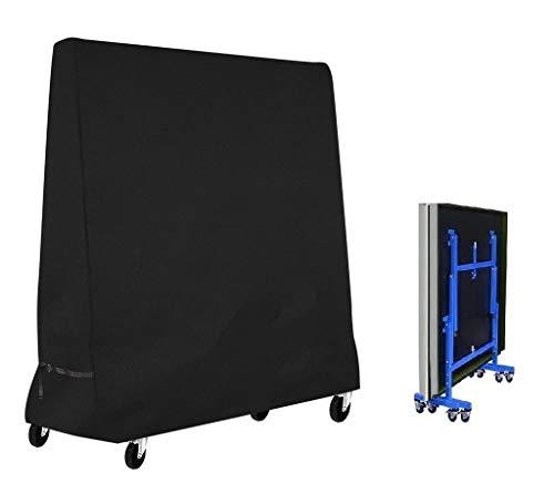 Mutsitaz Funda Protectora para Mesa de Ping-Pong Impermeable Resistente al Polvo Anti-UV Protección 420D Oxford 165x70x185cm Negro