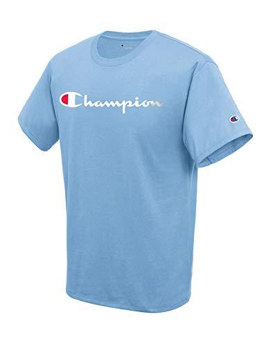 Champion Herren Classic Graphic Tee T-Shirt, Swiss Blue, Klein