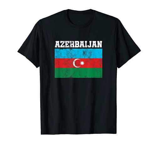 Proud Azerbaijani Patriotic Azerbaijan Country Flagge T-Shirt