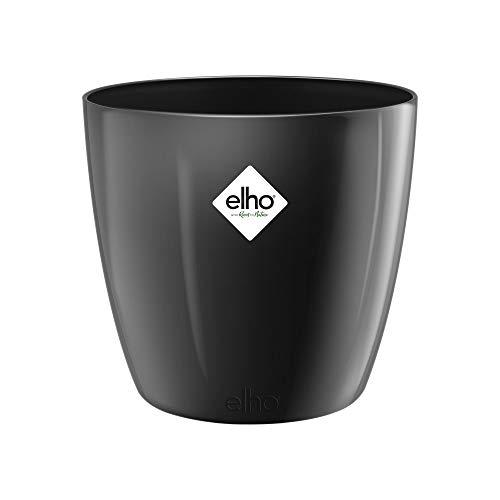 Elho Brussels Diamond Rond 22 - Bloempot, Binnen - Ø 22.4 x H 20.1, Metallic Zwart
