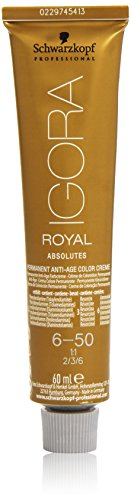 Schwarzkopf IGORA Royal Absolutes Permanent Anti-Age Color Creme 6-50 dunkelblond gold natur, 1er Pack (1 x 60 ml)