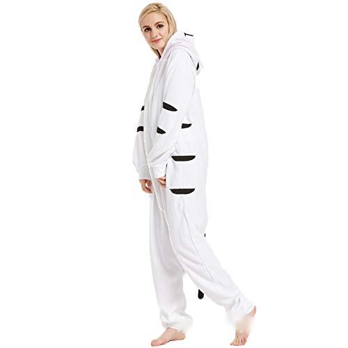 ZHHAOXINPA Pyjamas Combinaison, Damen Jumpsuit Kuscheliger Pyjama Set für Women Strampelanzug Onesie Schlafanzug Ladies Nachtwäsche Flanell Schlafstrampler mit Kapuze, S