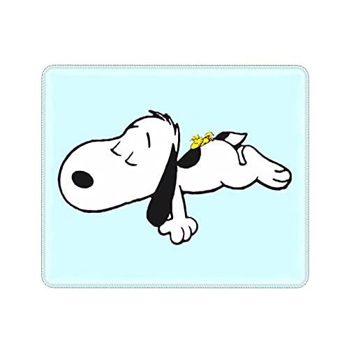 ZVEZVI Snoopy Lying On The Ground Ordenador Portátil Ratón Antideslizante Lavable Cómodo Engrosamiento 9.8x11.8 Pulgadas