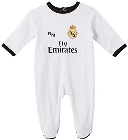 Camiseta  Real Madrid Pelele Blanco 3-12 Meses