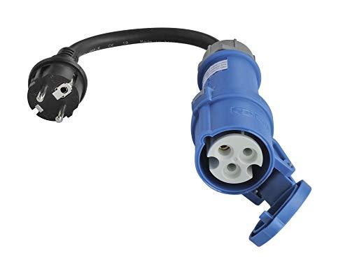 ViD® Adapterleitung 0,3m schwarz 230V 16A 3polig