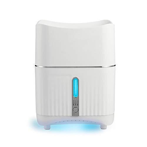 Dec-deal 680 ML Humidificador de Aromaterapia,con Diseño de Luz Nocturna Multicolor,Modo de Pulverización Dual,Niebla Ajustable,para Dormitorio/Regalo (Blanco)