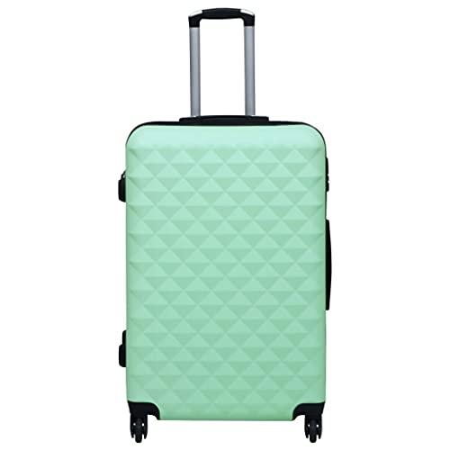 Ksodgun Maleta de Viaje, Maleta rígida con Ruedas ABS Verde Menta 76 x 48 x 28 cm -con Cerradura de Seguridad y poleas