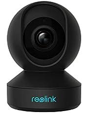 Reolink WiFi-beveiligingscamera binnen 4MP, Pan Tilt WiFi IP-camera voor baby, ouder, cameramonitor voor huisdieren, 2.4G/5GHz WiFi, 2-weg audio IR Nachtzicht op afstand bekijken, E1 Pro Zwart