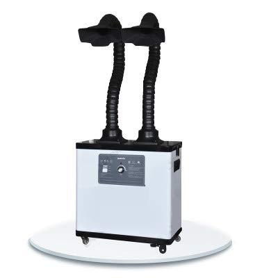 BAOSHISHAN Extractor de Humos de Soldadura Absorbente de Humo Industrial Extractor de Humos Filtro Extractor para Estación de Soldadura (Sistema de dos brazos) 220V