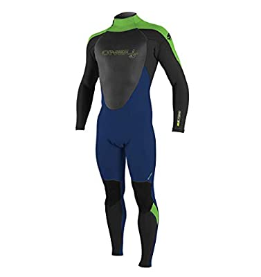 O'Neill Youth Epic 4/3mm Back Zip Full Wetsuit, Navy/Black/Dayglo, 8