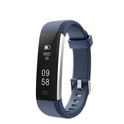 MISSJJ Reloj Inteligente para Mujer Hombre Niños, Pulsera Actividad Impermeable IP67, Podómetro, Control Remoto de… 1
