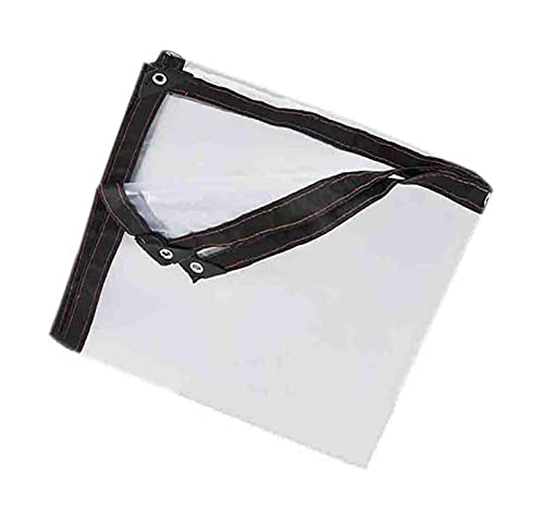 ZZYE Malla Sombreo Cubierta de Lona de Techo, Lona Transparente Transparente Rip-Stop Rip conjuntamente con Ojales/Reversible para Techo/Camping/Patio (plástico de 5 mil Gruesos) Lona Toldo