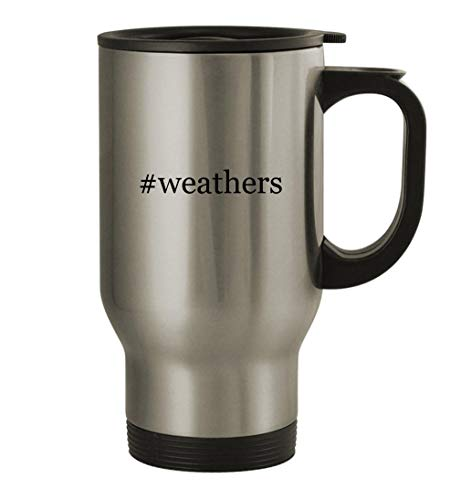 #weathers - 14oz Stainless Steel Travel Mug, Silver