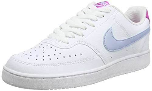 Nike Damen WMNS Court Vision Basketballschuh, Blue/White/Pink, 42 EU