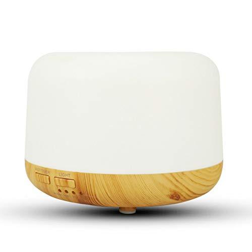 Ba30DEllylelly Difusor de aceite esencial de 300 ml, humidificador, difusor de aromaterapia, 7 colores, luces LED, temporizador, luz nocturna para el hogar