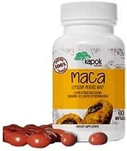 Kapok Naturals Maca Root Capsules, Soft-Gel Maca Capsules for Women and Men. 2000mg Maca Root Extract in Each Maca Pill. Natural Adaptogenic Herb for Endurance Energy, Stress and Fatigue. Maca Capsule