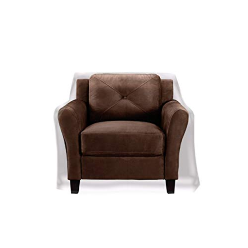 """Clear Vinyl Furniture Protector - Chair/Recliner Cover - 36"""" W x 40"""" D x 42"""" H Rear, 25"""" H Front"""