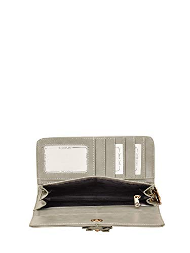 Butterflies Grey PU Women's Wallet (BNS 2443GY)