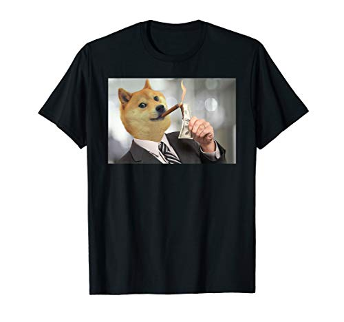 Fashion Shiba Inu Doge Bread Meme Dog Such Money Much Wow T-Shirt