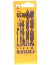 DEWALT DT4535-QZ - Juego de brocas espirales para madera, 5 Piezas